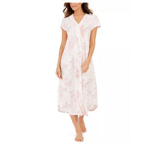 Miss Elaine Cottonessa Knit Long Nightgown- Pink~S